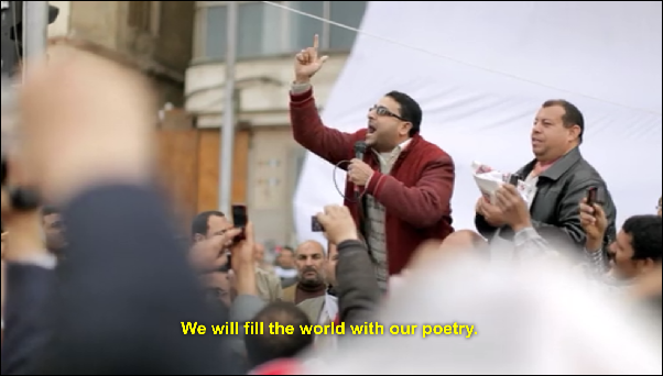 we will fill the world with our poetry Tahrir