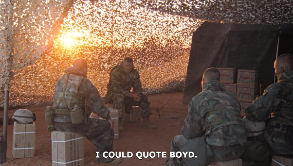 Boyd in Generation Kill