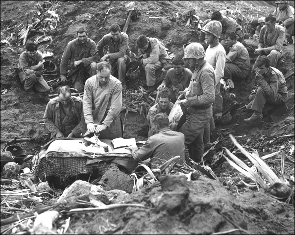 Chaplains WWII Mass on Mt Suribachi
