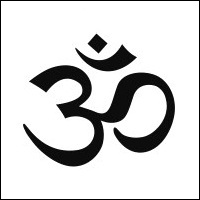 black-aum-sign-on-white-background