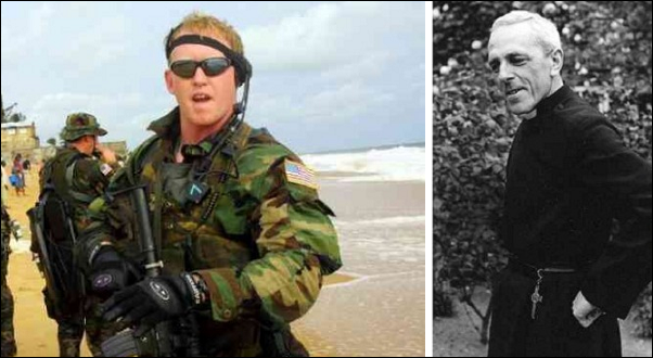 Navy SEAL Rob O'Neill, Anglican monk Fr Trevor Huddleston