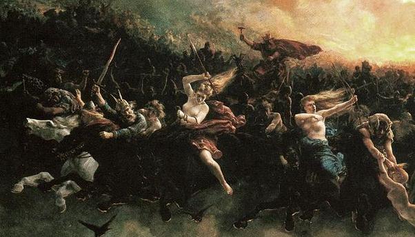 Aasgaardreien Peter Nicolai Arbo Wild Hunt detail