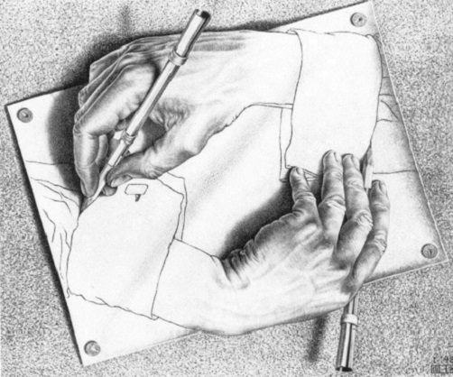 Escher drawing_hands