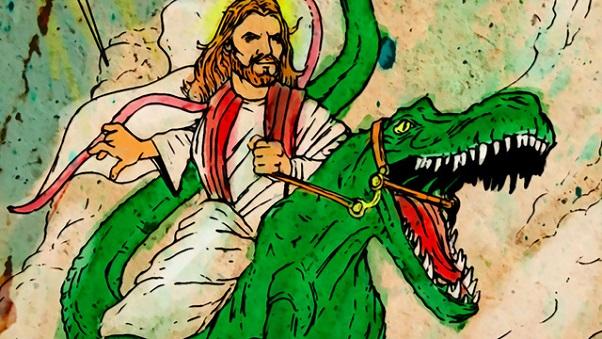 Jesus dinosaur detail 602