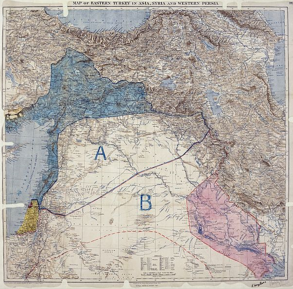 Sykes_Picot_Agreement_Map_signed_8_May_1916 600