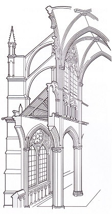 rib vaulting flying buttresses