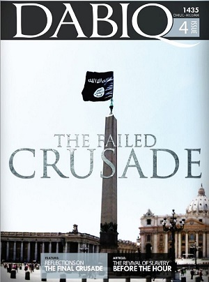 Dabiq 4 cover Vatican with IS flag