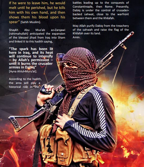 Dabiq issue 1 graphic