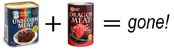 Unicorn plus dragon meat