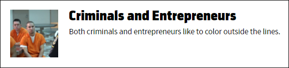 criminals & entrepreneurs
