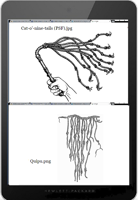 Tablet DQ 600 quipu cat-o'nine-tails 75
