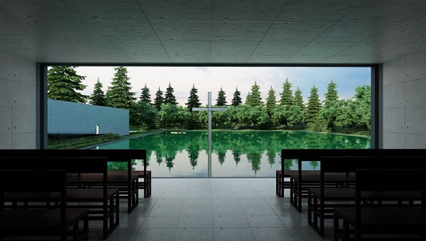 Church on the water, Tadao Ando ,Hokkaido (1)