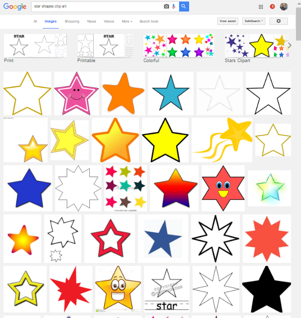 Star shapes clip art