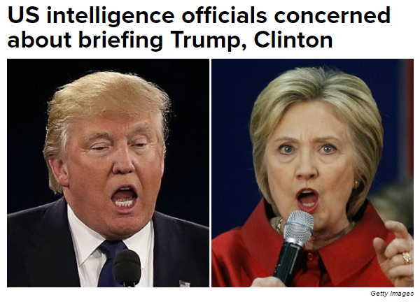 Trump Clinton and IC briefings